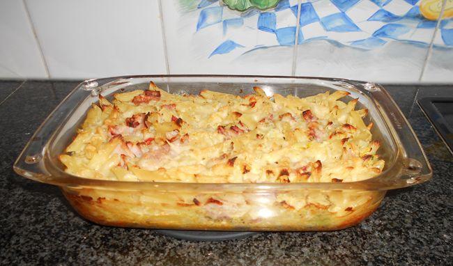 Ovenschotel met pasta witte kool en ham, Recepten - Eenpansgerechten, Gette.org