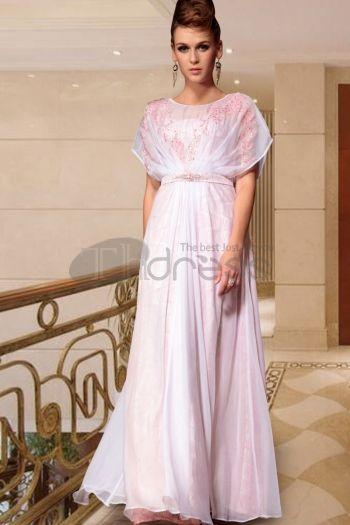 Abiti in Magazzino-unico stile off spalla rosa lunghi del partito di promenade veste il nuovo modo