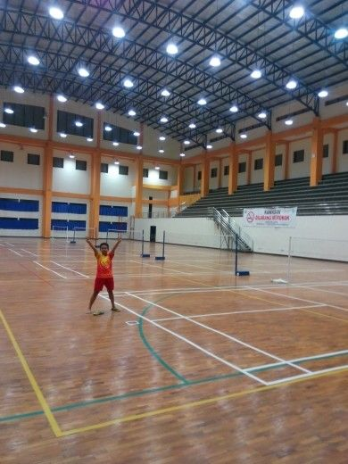 Damar on Balai Rakyat Pasar Minggu Badminton Hall.