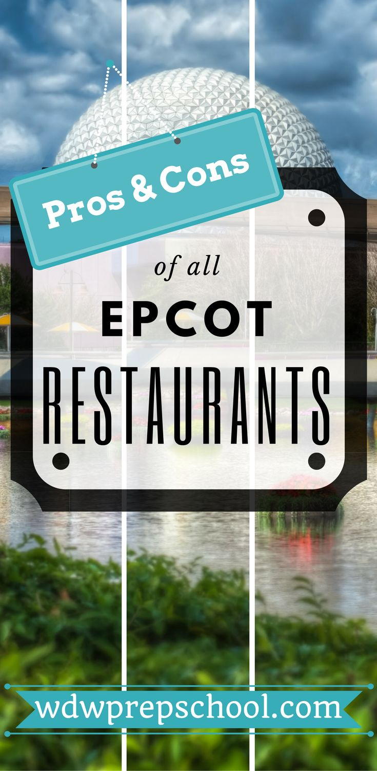 Not sure where to eat at Epcot? | Check out this comprehensive list of all your options | Disney World | Disney Dining Plan | Table Service | Quick Service | Disney Snack credits