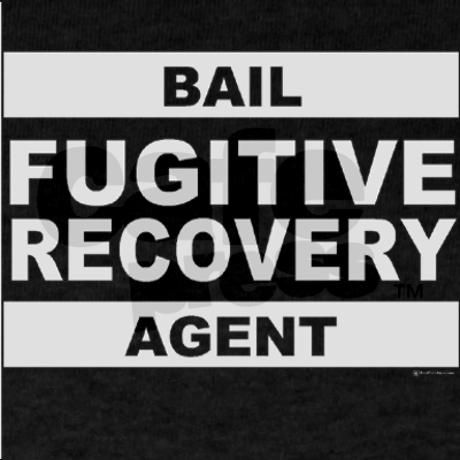 Gray Bail Fugitive Recovery Agent on Black Shir Dark T-Shirt - bail agent sample resume