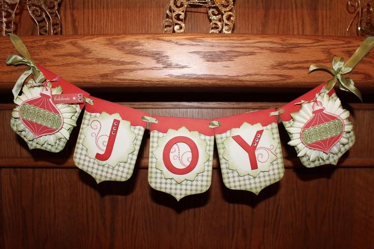 CTMH Joy Christmas banner