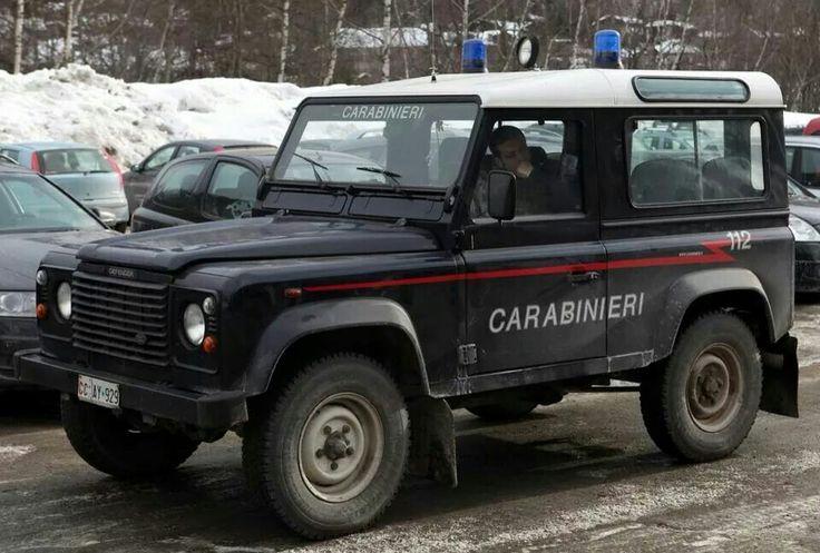 Italian Carabinieri Police Defender 90 2.0i K Series Rover Petrol Powered Station Wagon LHD