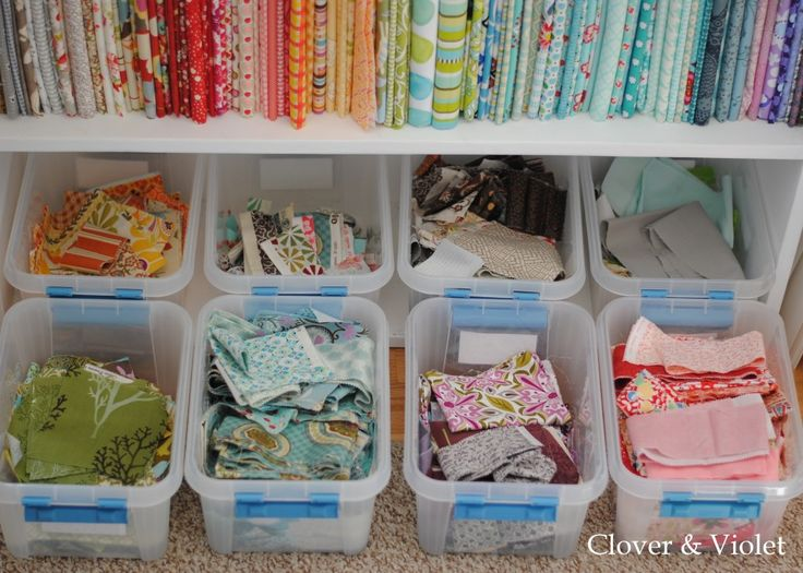 Idea for organizing fabric scraps