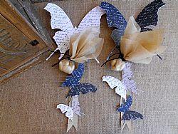 Μπομπονιέρα γάμου κρεμαστές πεταλούδες μαγνήτης