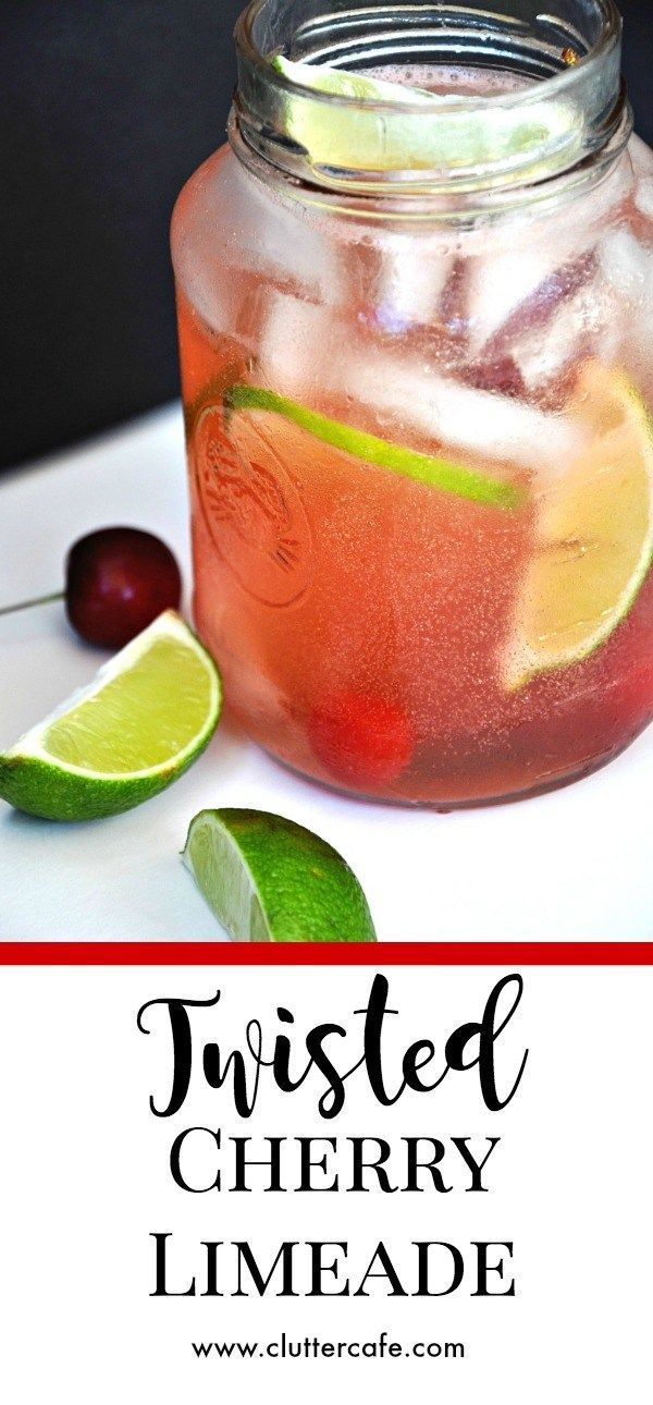 Twisted Cherry Limeade is a refreshingly sweet, tart, sparkling summertime cocktail