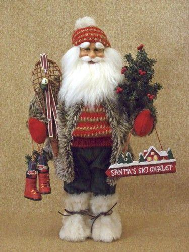 Karen didion woodland ski santa claus collectible doll