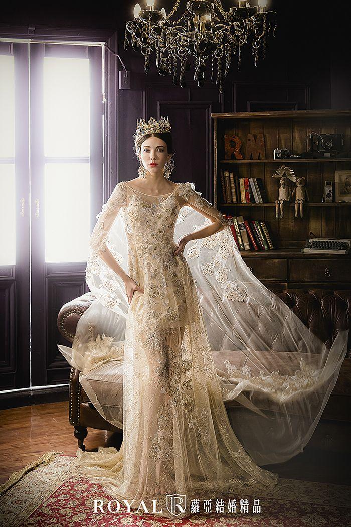 幸福,就是要高調展示!刺繡蕾絲配上輕盈薄紗,高級訂製妳的奢華氣質,皇家女王v.s.銀雪精靈,無論怎麼選,都能成為眾人焦點!