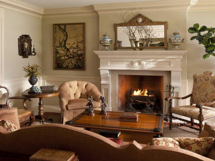 Old World Living Room Decorating Ideas | Living Room Ideas Brown Sofa Color Walls Beadboard Kids Mediterranean ...