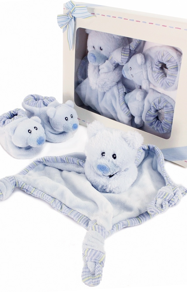 New baby gift set  - Blue Comfy Boots Set by Russ