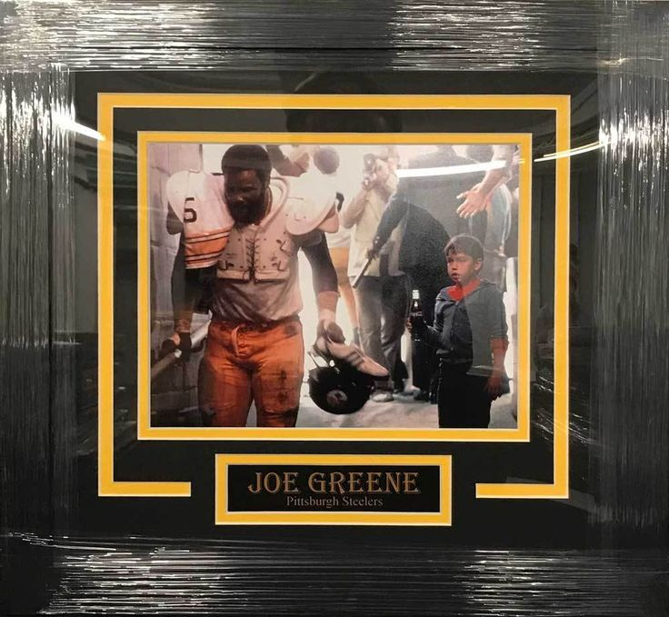 Joe Greene UNSIGNED Professionally Framed Coke Commercial 8x10 Photo