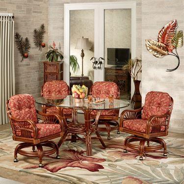 Leikela Papaya Medley Tropical Dining Furniture Set
