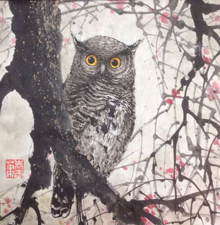 OWL Painting - CERTITUDE Size : W680 x L680mm          ( Include Wooden Frame ) Copyright by: jtcreations.net taywusiew@gmail.com (6)0122677564