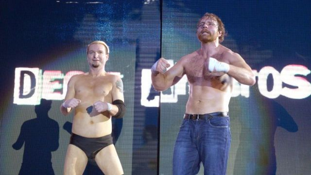 James Ellsworth and Dean Ambrose, WWE Live Event in Birmingham, England