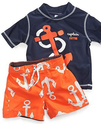 Carters Baby Swimwear, Baby Boys Anchors Rashguard and Swim Shorts - Kids Baby Boy (0-24 months) - Macys