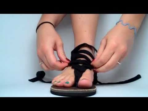 Sseko Bohannon's Best Tie - Just one of hundreds of ways to way Sseko sandals. Search for them on Facebook to learn about this fabulous Fair Trade handcraft that benefits the women of Uganda, and then get yourself a pair!!