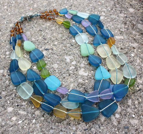 Glass Pebbles Necklace (Customer Design) - Lima Beads