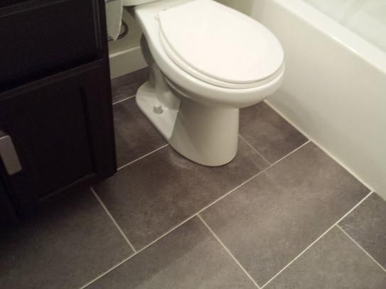 Attractive $1.08 Sq Ft TrafficMASTER Ceramica 12 In. X 24 In. Coastal Grey Resilient  Vinyl. Laminate Tile FlooringVinyl Flooring BathroomBathroom ...