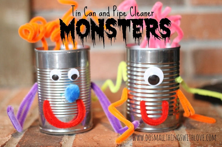 Small Things: Tin Can and Pipe Clearner Monsteres