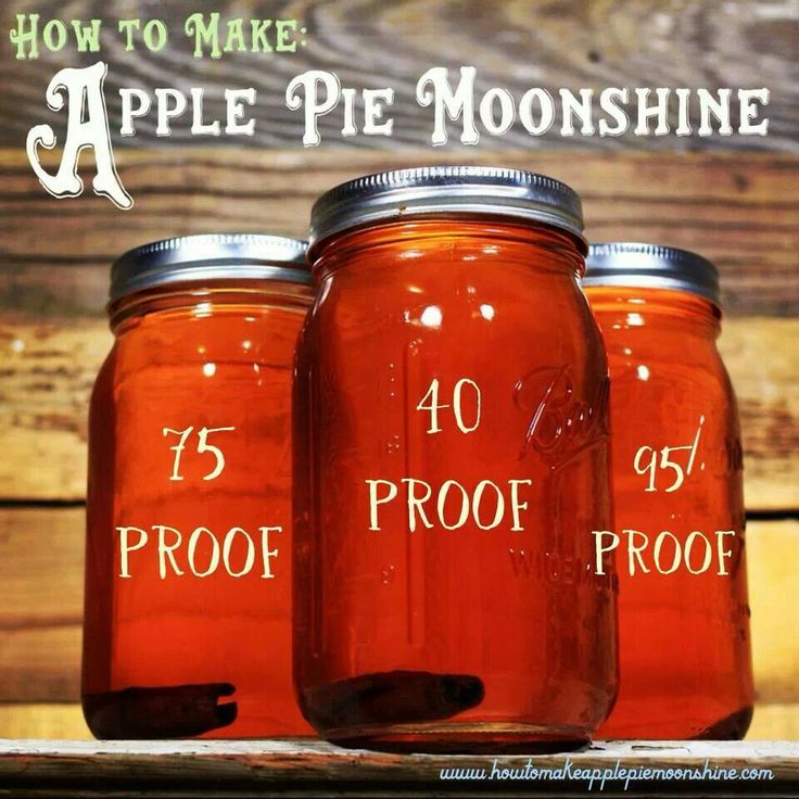 Apple Pie Moonshine recipe with proof. http://howtomakeapplepiemoonshine.com/