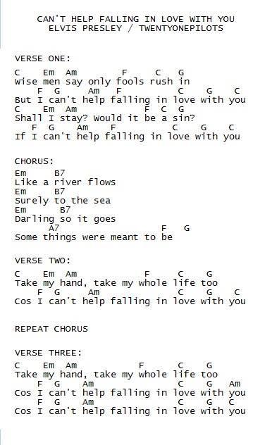 Can't Help Falling In Love - Twenty One Pilots