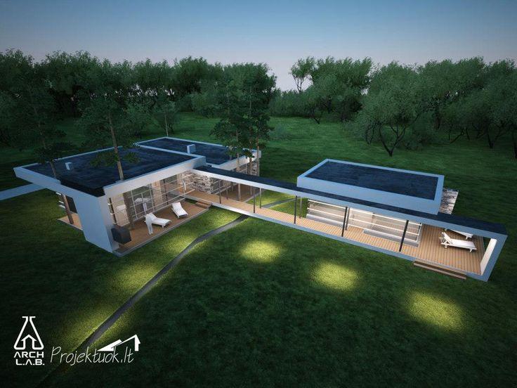 Modernus namas/modern house//  Architecture: http://www.archlab.lt/ Construction: www.projektuok.lt