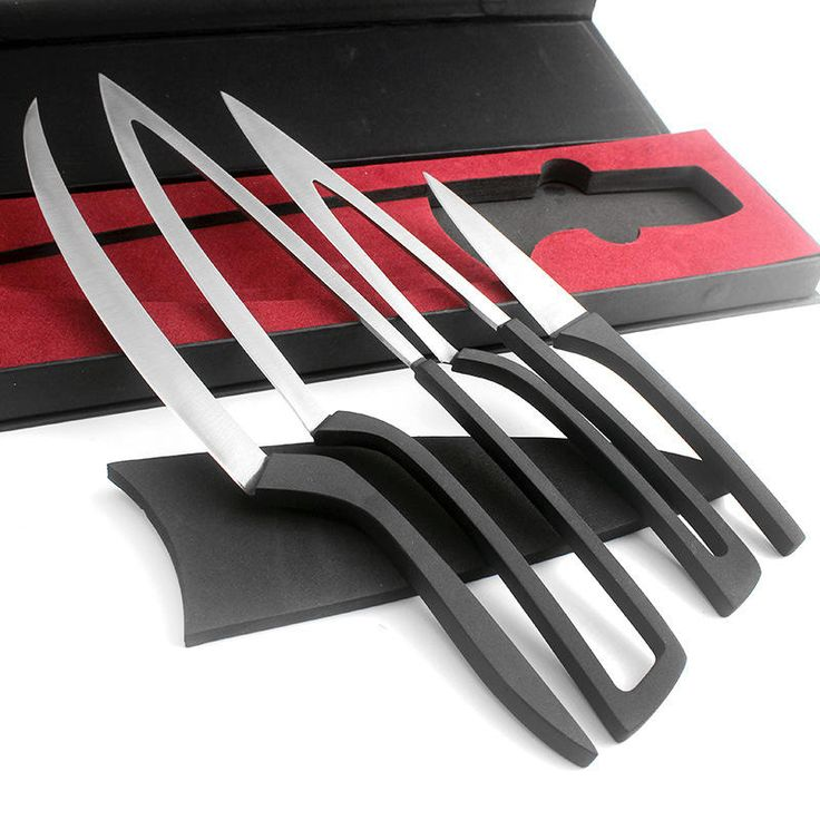 KCASA KC-KF38 Overlap Multi Kitchen Knives 4pcs/set Camping Stainless Steel Knife Sets