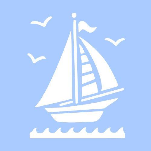небольшая трафарет корабль на море на открытку модельный ряд