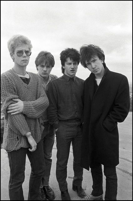 U2 1980 | U2 on the roof of the Cork Country Club Hotel in Cork, Ireland, on 10 ...