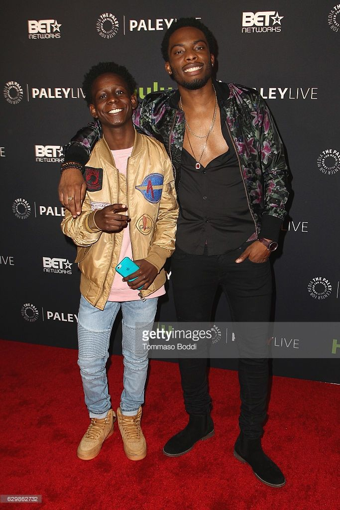 Tyler Williams and Woody McClain attend the Paley Center For Media Presents Premiere Of BET's 'The New Edition Story' at The Paley Center for Media on December 14, 2016 in Beverly Hills, California.