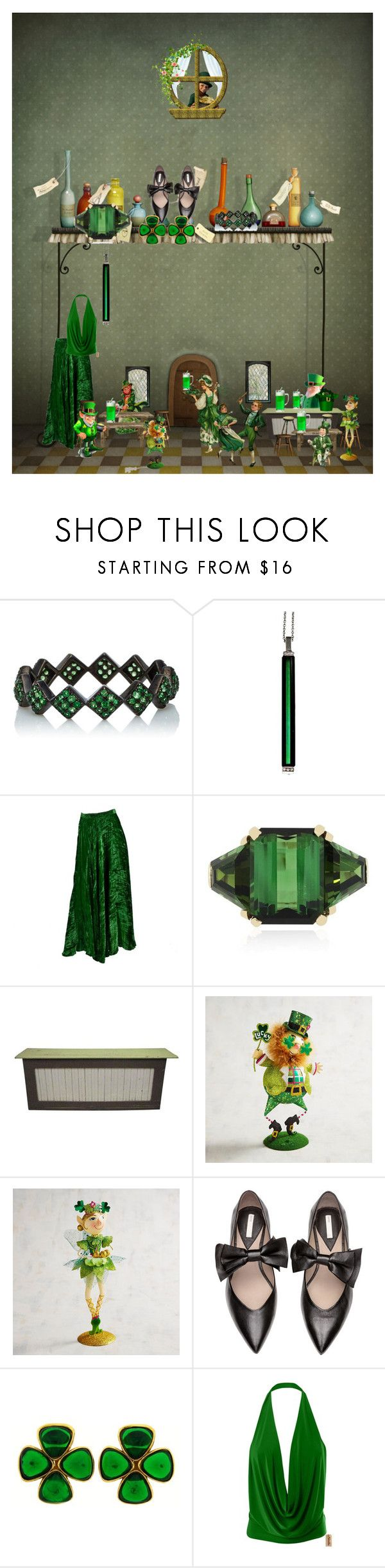 """""""Irish Pub outfit"""" by mynextlife ❤ liked on Polyvore featuring Green & Spring, Yves Saint Laurent, Pier 1 Imports and Chanel"""