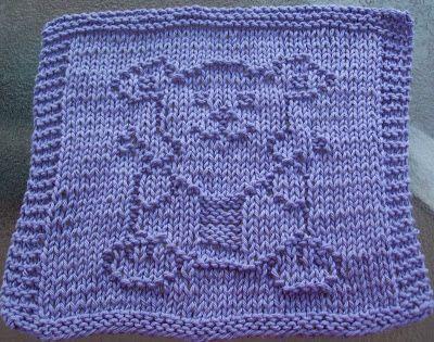 DigKnitty Designs: Bear Knitting Knit Dishcloth Pattern