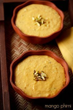 mango phirni recipe - delicious pudding made from mangoes and rice ‪#‎mangoes‬ ‪#‎rice‬ ‪#‎pudding‬