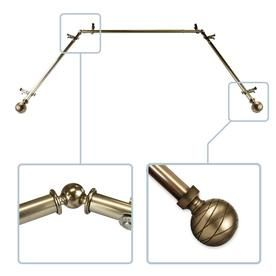 Hart Harlow Able 13 16 In Bay Window Curtain Rod 20 36 In 38