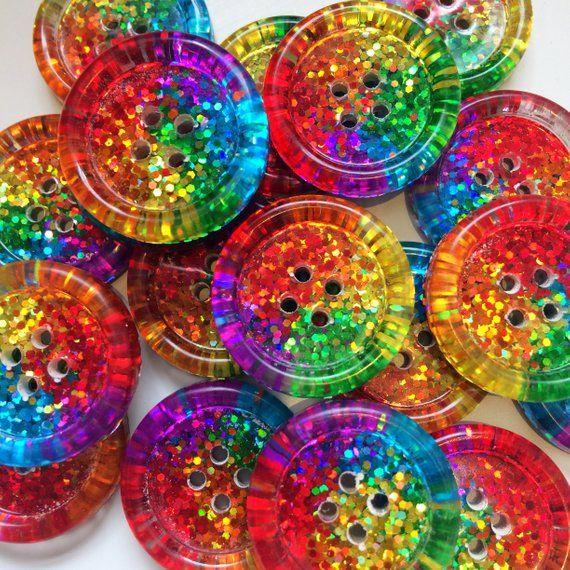 12 Rainbow Swirl Buttons Size 15mm