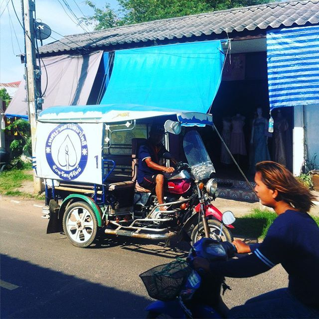 On the road, #tuktuk forever  #thailand #traveling #travel #motorbikes #ontheroad #nearcambodia #nothernthailand #trip
