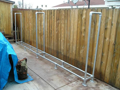 another very diy galvanized metal version of a firewood rack this one with leave - Firewood Racks