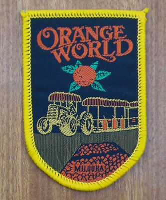 CLOTH BADGE / PATCH .. ORANGE WORLD .. MILDURA , VICTORIA