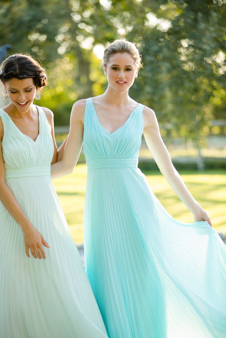 101 best our bridesmaids images on pinterest wedding bridesmaids minty hued bridesmaids dresses by donna morgan ombrellifo Images
