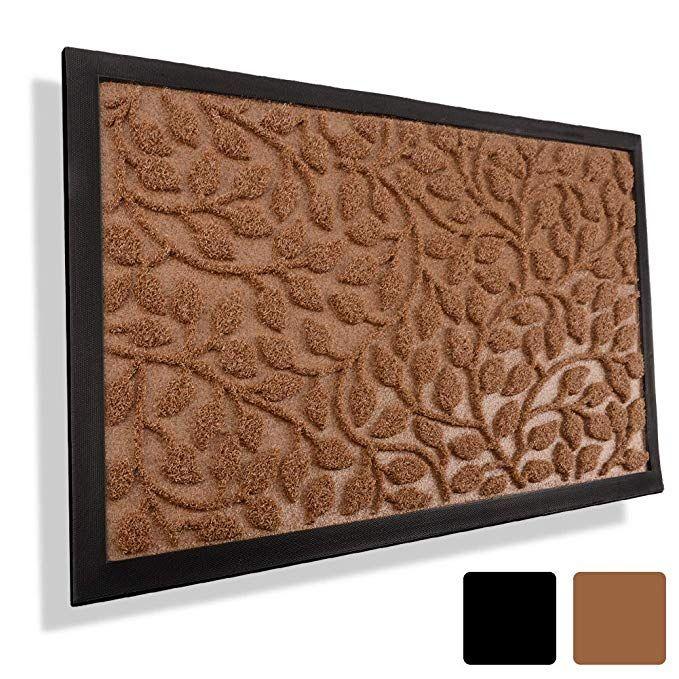 Mibao Durable Rubber Door Mat Waterproof Non Slip Easy Clean Low
