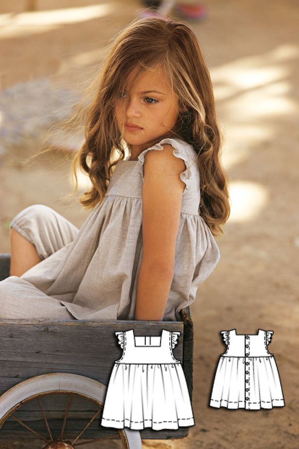 Girls tank top sewing pattern 150B 052010                                                                                                                                                                                 More