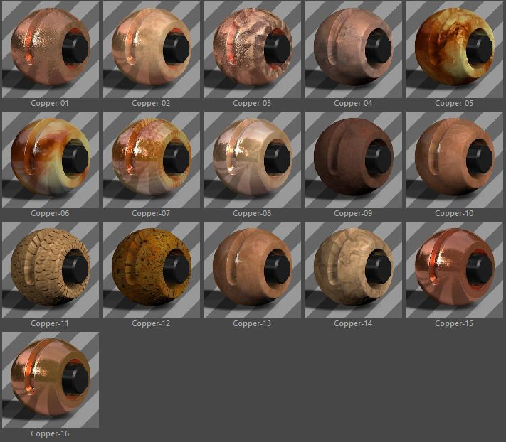 331 Standard Metal Materials Pack AIO for C4D #Metal