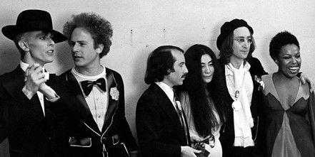 David Bowie, Art Garfunkel, Paul Simon, Yoko Ono, John Lennon, and Roberta Flack