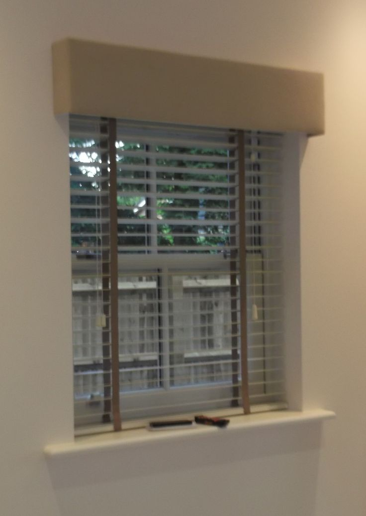 Wooden Blind With A Pelmet Blinds Wooden Window Blinds
