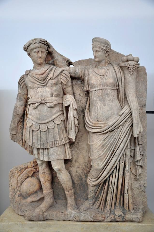 The relief of Nero and Agrippina from Aphrodisias Sebasteion, now in the local museum. This is just a teaser as we will devote a whole cycle of posts to the wonderful reliefs from the Sebasteion soon.