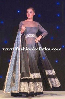 FKF Designer Grey Floor Length Anarkali