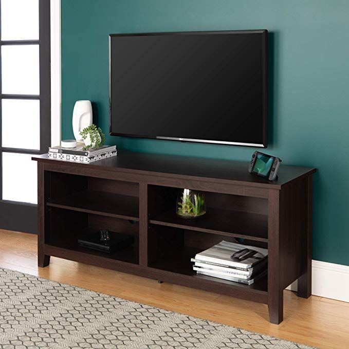 Amazon Com We Furniture Minimal Farmhouse Wood Universal Stand