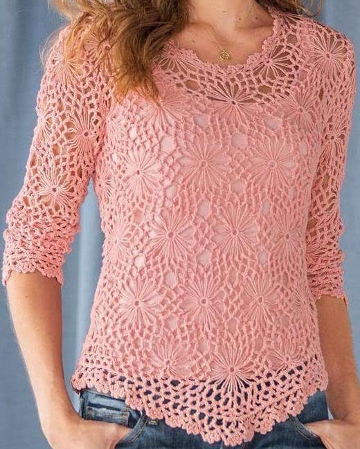 las 25 mejores ideas sobre blusas tejidas en crochet en pinterest bolero en croch sueter
