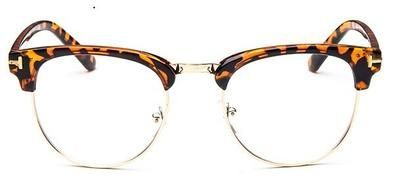 2019 Half Metal Women Glasses Frame Men Eyeglasses Frame Vintage SquareClear Gla…