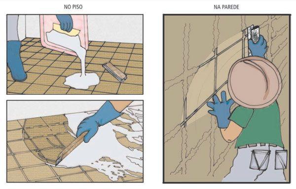 Como rejuntar pisos e paredes cerâmicas
